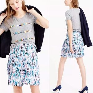 J.Crew Watercolor Two Tier Pleated Skirt Size 0